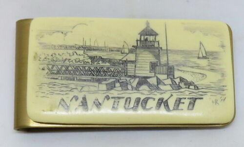 Scrimshaw Nantucket Money Clip Brass