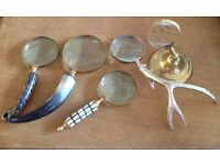 Vintage Retro Style Magnifying Glasses Collection of 5