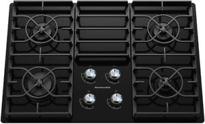 """50% OFF Kitchen 30"""" Gas Cooktop - Black Glass Finish 4 Burners"""