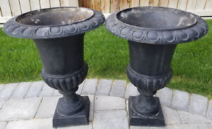 Cast Iron Flower Pots