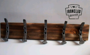 Hand forged coat rack