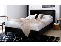 【❋❋ BRAND NEW IN BOX ❋❋ 】PRADO LEATHER BED MODERN LEATHER DOUBLE 4FT6 KINGSIZE 5FT FAUX LEATHER
