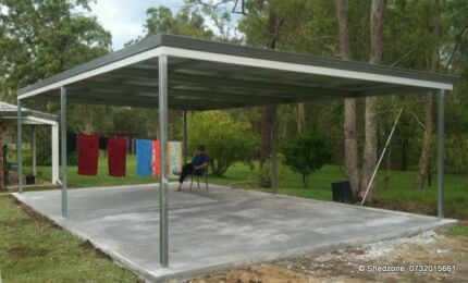1 WK Delivery CARPORT ROOF SKILLION CARPORTS AWNING PERGOLA PATIO Ipswich Ipswich City Preview