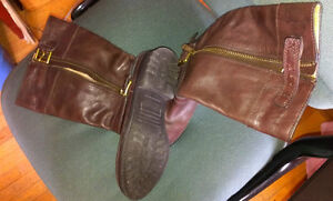 AUTHENTIC  COACH - GRACEY - BROWN LEATHER BOOTS - 6B