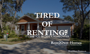 Rent2Own- Tired of renting? Start the new year off right!