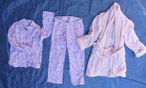Clearance:  Womens size small flannel pj's, robe, pants, +Free