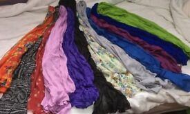 SOFT VOILE SCARVES in 12 COLOURS.