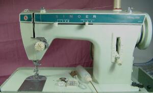 SINGER 257 MOSTLY METAL FASHION MATE ZIG-ZAG SEWING MACHINE