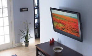 LCD TV wall mounting, TV wall mount installation, bracket sale