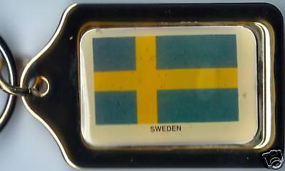 Sweden Solid Brass Key Chain NEW