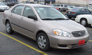 2003 to 2010 Toyota Corolla wanted as-is in Ontario