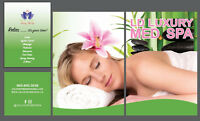 SPA services and gifts on special for this month.