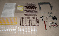 HO Scale Train Accessories Lot - Signs, People, Utility Poles,