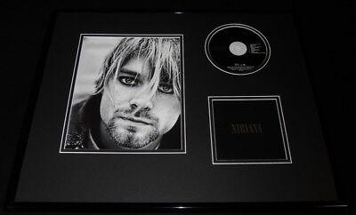 Kurt Cobain Framed 16x20 Nirvana CD & Photo Set
