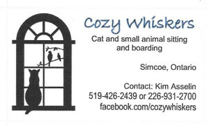 COZY WHISKERS - Pet Sitting/Boarding