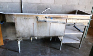 INDUSTRIAL STAINLESS STEEL SINK - $50 (price negotiable!)