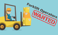 JOBS! JOBS! JOBS! Forklift Operators wanted to work in Bolton.