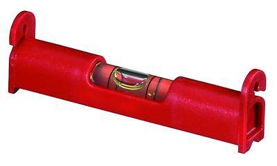 FREUND Schnurwasserwaage in rot, 90mm lang, für die Maurerschnur, Schnurwaage