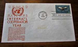 1965 UN International Cooperation Year 5 Cent First Day Cover