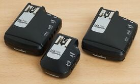 Pocket Wizard TT1, 2x Flex TT5 & AC3 for Canon, with batteries, boxes & instructions