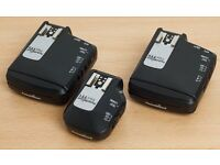 Pocket Wizard TT1 & 2x Flex TT5 for Canon, with batteries, boxes & instructions