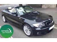 £260.39 PER MONTH BLACK 2010 BMW 118I 2.0 M SPORT CONVERTIBLE PETROL AUTOMATIC