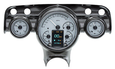 Dakota Digital 57 Chevy Car Customizable Gauge System Kit Silver Alloy HDX-57C-S