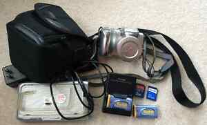 Kodak EasyShare Z612 camera with dock, charger, case, extras