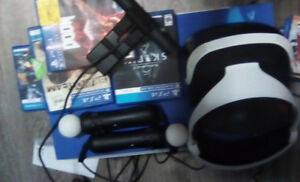 Ps4 vr Skyrim bundle  used once mint 400$ firm