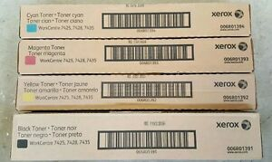 4PK Genuine Xerox WorkCentre 7425 7428 7435 High Yield Toner cmyk