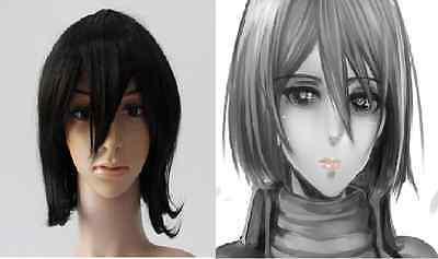 Attack on Titan Mikasa Ackerman  Medium Black COSPLAY Costumes Wig 2568!](Attack On Titan Mikasa Costume)