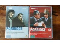 Porridge DVD's, series 1 and the christmas specials, as new condition