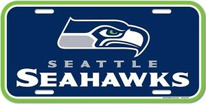 Seattle Seahawks License Plate (New)