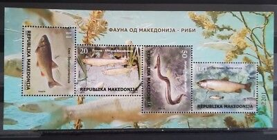 MACEDONIA 2018 Fauna Fishes MNH