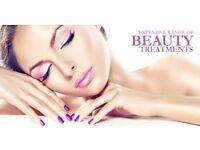 Beauty treatments, facials, massage, physio, waxing, mani, pedi ...