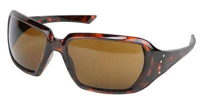 Crews 2 Women's Safety Glasses Sunglasses Tortoise Frame Brown (Women's Safety Sunglasses)