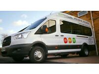 Minibus Hire with Driver Service • UK Coverage • Coaches • 16 Seaters • Male & Female Drivers