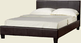 Double, Leather Bed, Frame New, Thick Ortho Spring, Mattress, Both, SAME DAY DELIVER.