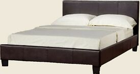 Prado Luxury Faux Leather Double Bed Frame - 4ft6 Double