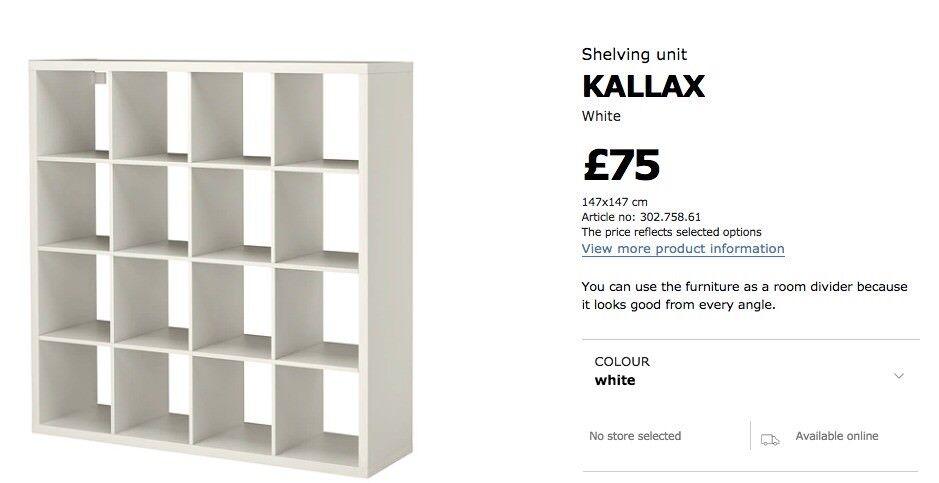 IKEA Expedit / Kallax 147x147 cm white shelf + seven door inserts  sc 1 st  Gumtree & IKEA Expedit / Kallax 147x147 cm white shelf + seven door inserts ...