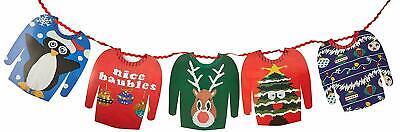 Räumung Hässlich Weihnachten Pullover 3m Papier Girlande Dekoration (Hässlich Weihnachten Pullover Dekorationen)