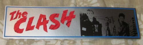 RARE ORIGINAL THE CLASH DEBUT ALBUM MUSIC/CONCERT BUMPER STICKER/DECAL