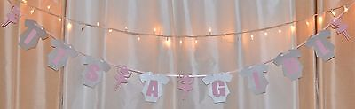 Ballerina Themed Baby Shower (its a girl baby shower clothing ballerina tutu theme pink/silver hanging)