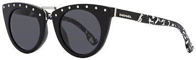 Diesel Cateye Sunglasses DL0211 01A Shiny Black   49mm (Diesel Womens Sunglasses)