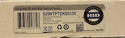 Hid Iclass Se R40 Wall Switch Reader 920ntptek0033v Osdp Blue Tooth Smart Card