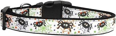 MIRAGE HALLOWEEN ITSY BITSY SPIDER DOG COLLAR SMALL LARGE ()