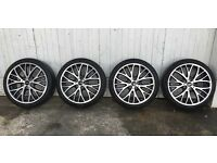 Mini Alloy wheels x4 - LA Wheel Cross Spoke with 506 Pirelli 205/40/r18 run flat tyres for mini