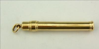 VICTORIAN 18CT SOLID GOLD PENCIL HOLDER SAMPSON MORDAN