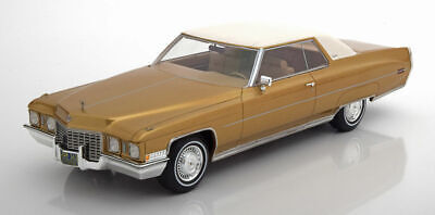 Cadillac 1972 Coupé de Ville Gold and White LE 300 by