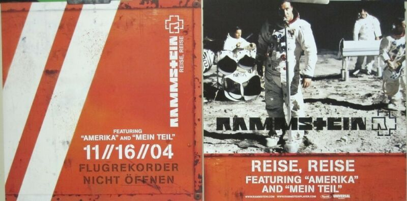 Rammstein 2004 Reise,Reise 2 Sided promo poster/flat Flawless New Old Stock